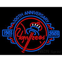 1903 Yankees 100th Anniversary 2003 Neon Sign