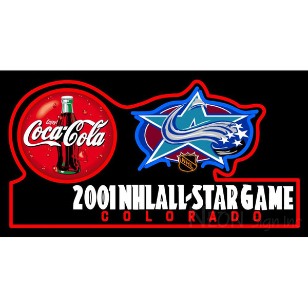 2001 Nhlall Star Game Colorado Neon Sign
