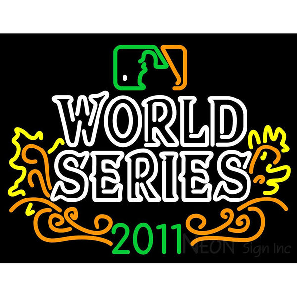 2011 World Series Champions Logo Neon Sign 3