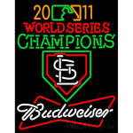 2011 World Series Champions With Budweiser Logo Neon Sign 1