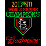 2011 World Series Champions With Budweiser Logo Neon Sign 2