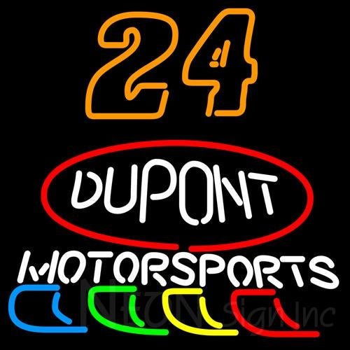 24 Jeff Gordon Dupont Motor Sports Neon Sign