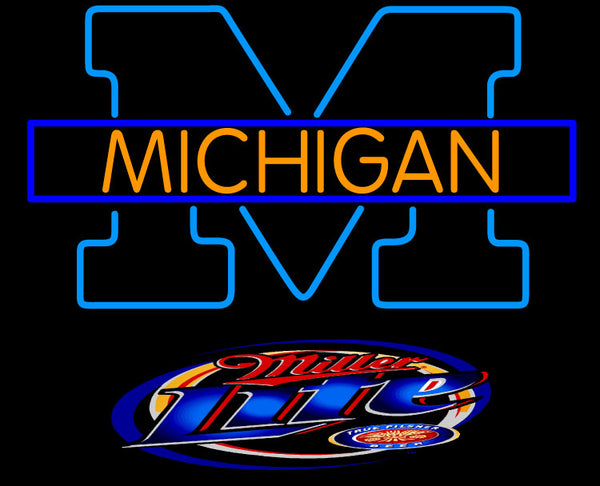 Bud Light Michigan University of Michigan Neon Sign10