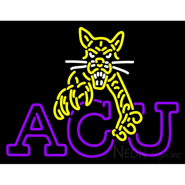 Abilene Christian Wildcats Alternate 1997 2012 Logo NCAA Neon Sign 1