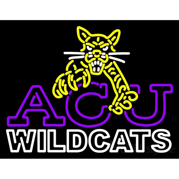 Abilene Christian Wildcats Alternate 1997 2012 Logo NCAA Neon Sign