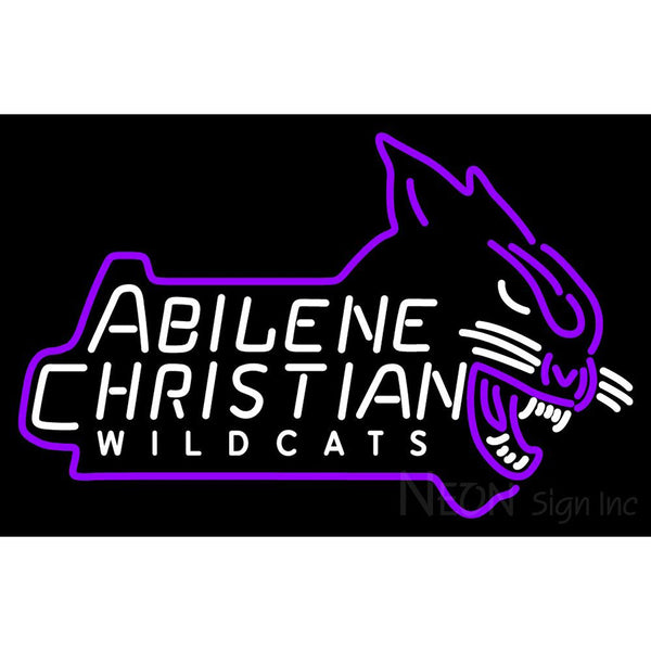 Abilene Christian Wildcats Alternate 2013 Pres Logo NCAA Neon Sign