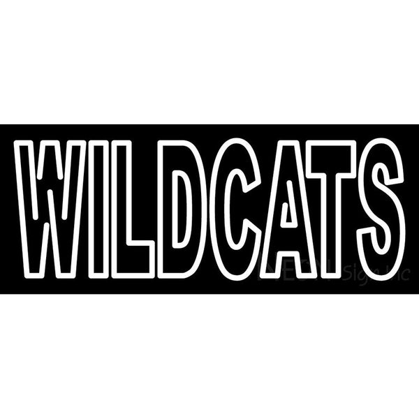 Abilene Christian Wildcats Wordmark 1997 2012 Logo NCAA Neon Sign
