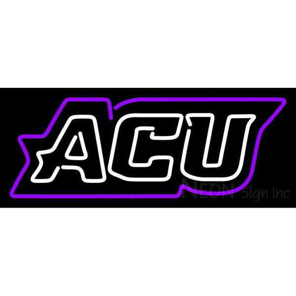 Abilene Christian Wildcats Wordmark 2013 Pres Logo NCAA Neon Sign 1