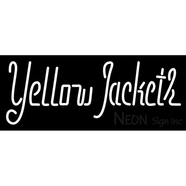 Aic Yellow Jackets Wordmark 2009 Pres Logo NCAA Neon Sign