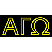Alpha Gamma Omega Neon Sign