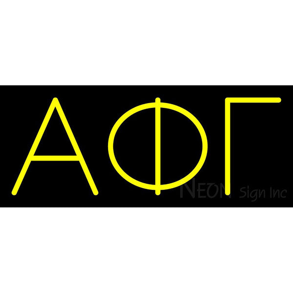 Alpha Phi Gamma Sorority Neon Sign 1