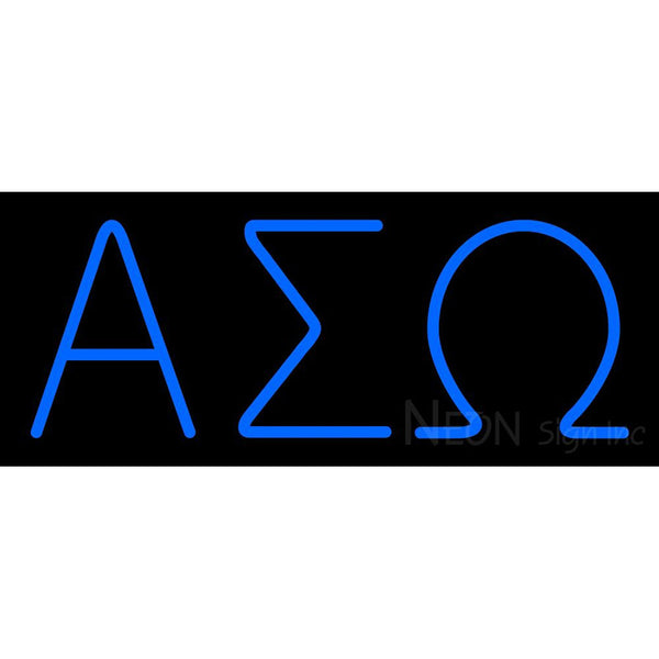 Alpha Sigma Omega Latina Greek Neon Sign 1