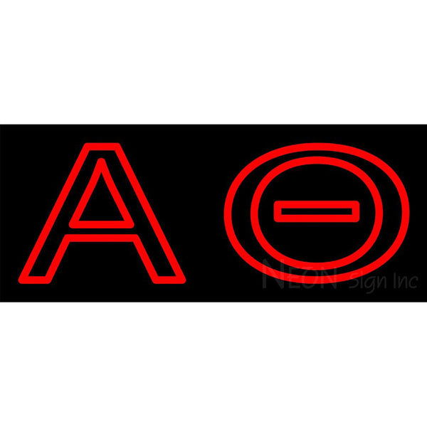 Alpha Theta Neon Sign