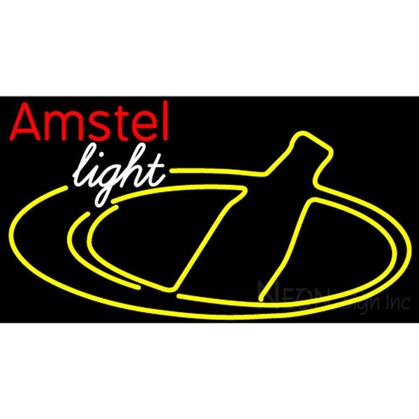 Amstel Light Bottle Neon Beer Sign