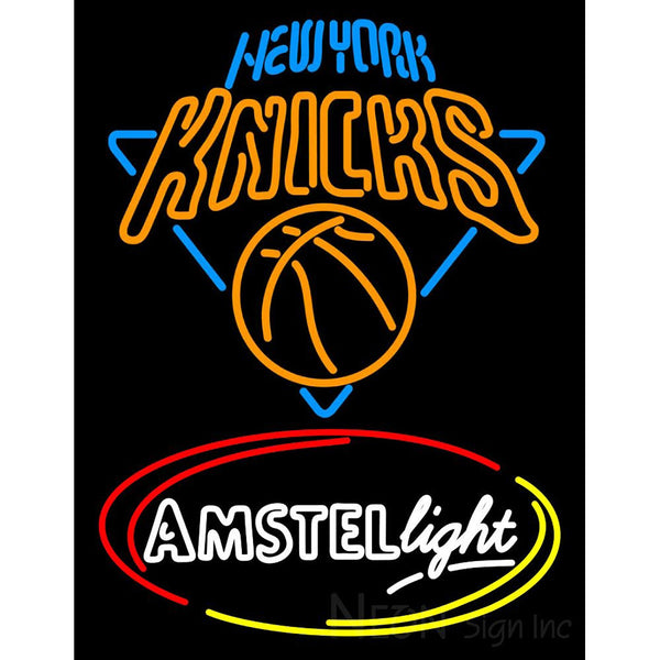 Amstel Light New York Knicks Neon Beer Sign