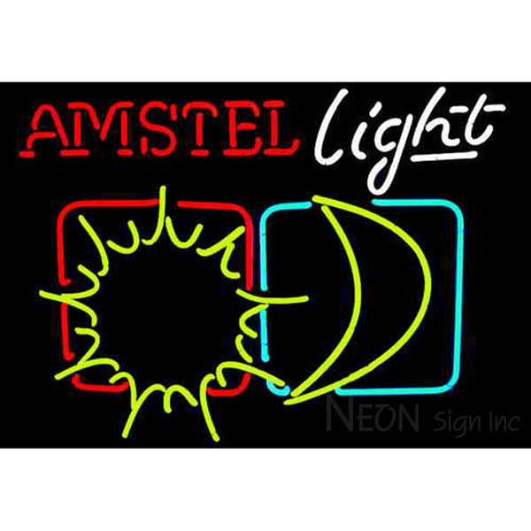 Amstel Light Sun And Moon Neon Sign