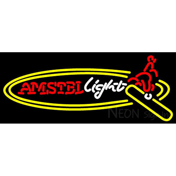 Amstel Light Surfer Neon Beer Sign