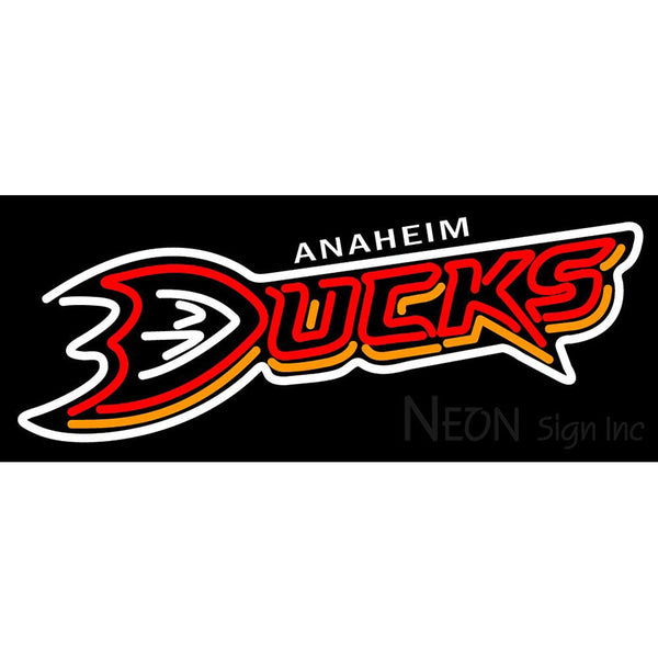 Anaheim ducks neon sign 1