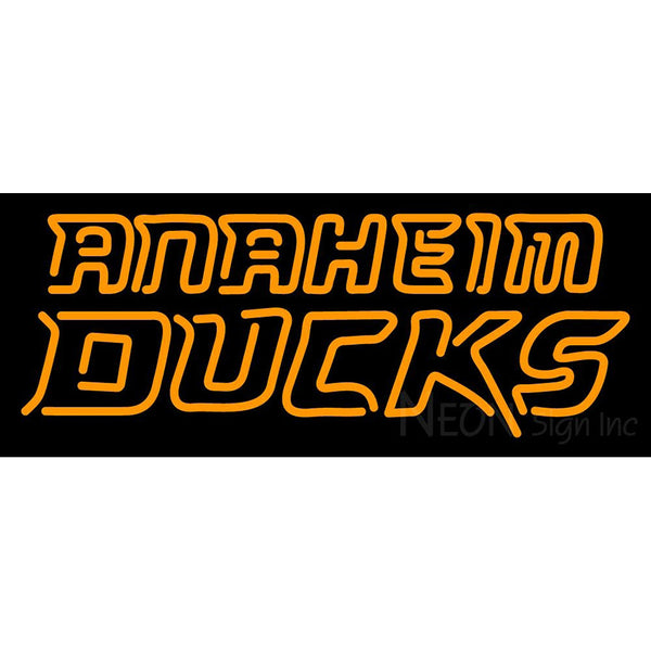 Anaheim Ducks Wordmark 2006 07 Pres Logo  NHL Neon Sign