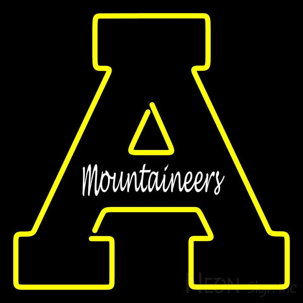 Appalachian State Mountaineers Primary 1970 2003 Logo NCAA Neon Sign