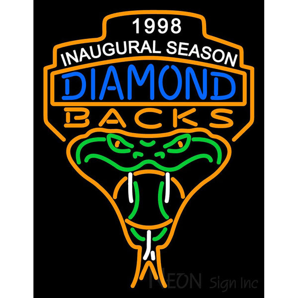 Arizona Diamondbacks Anniversary 1998 Logo MLB Neon Sign