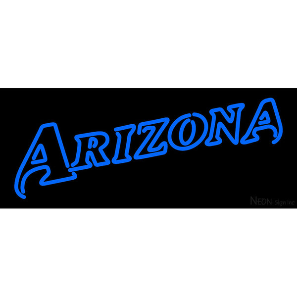 Arizona Diamondbacks Wordmark 1998 2000 Logo MLB Neon Sign