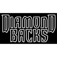 Arizona Diamondbacks Wordmark 2007 Logo MLB Neon Sign