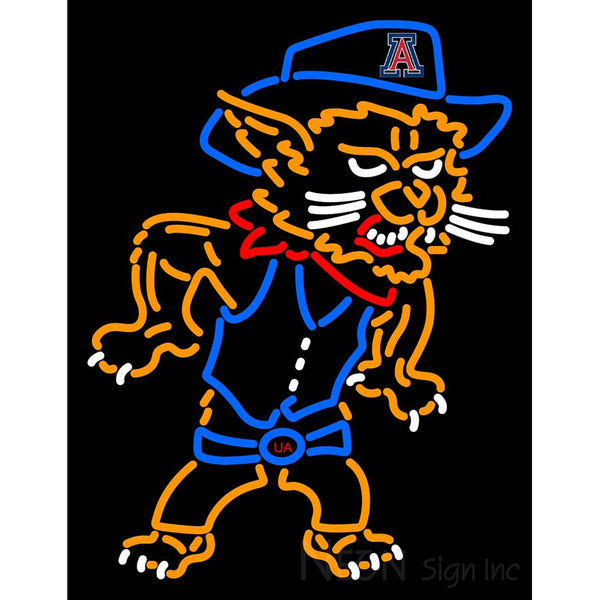 Arizona Wildcats Mascot 2003 Pres Logo NCAA Neon Sign