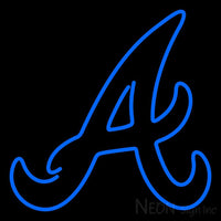 Atlanta Braves Alternate 1987 Pres Logo MLB Neon Sign