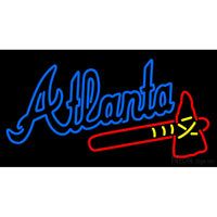 Atlanta Braves Alternate Wordmark 1987 Pres Logo MLB Neon Sign
