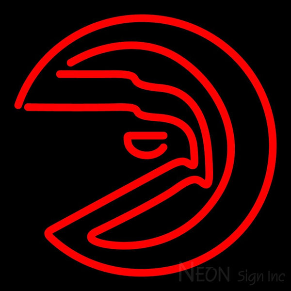 Atlanta Hawks Alternate 1972 73 1994 95 Logo NBA 1 Neon Sign 16x16
