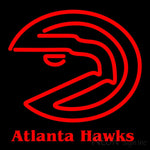 Atlanta Hawks Primary 1972 73 1994 95 Logo NBA 1 Neon Sign 16x16