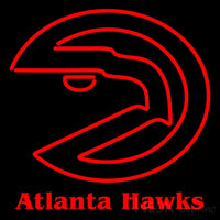 Atlanta Hawks Primary 1972 73 1994 95 Logo NBA Neon Sign