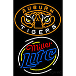 Auburn Tigers Miller Light Logo Neon Sign 2