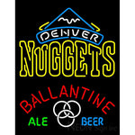 Ballantine Denver Nuggets NBA Neon Beer Sign