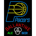 Ballantine Indiana Pacers NBA Neon Beer Sign