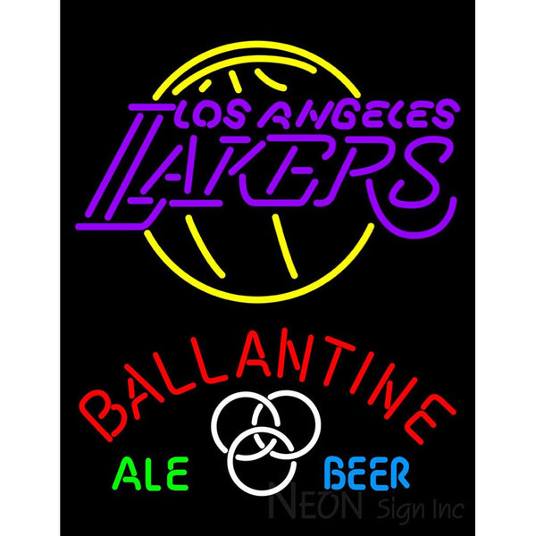 Ballantine Los Angeles Lakers NBA Neon Beer Sign
