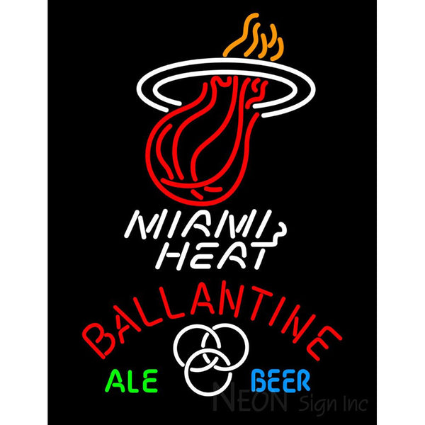 Ballantine Miami Heat NBA Neon Beer Sign