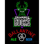 Ballantine Milwaukee Bucks NBA Neon Beer Sign