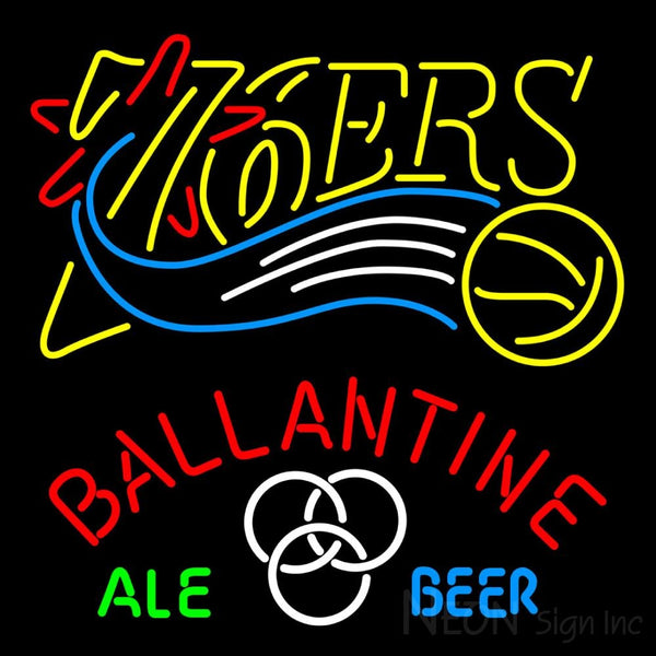Ballantine Philadelphia 76ers NBA Neon Beer Sign