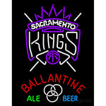 Ballantine Sacramento Kings NBA Neon Beer Sign