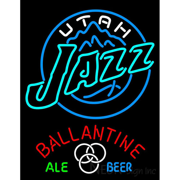 Ballantine Utah Jazz NBA Neon Beer Sign