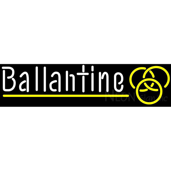 Ballantine Yellow Logo Neon Beer Sign
