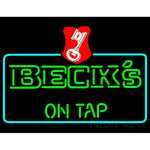 Beck On Tap Key Label Neon Beer Sign
