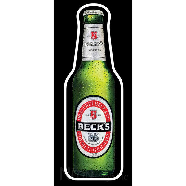 Becks Beer Bottle Neon Beer Sign