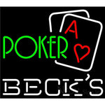 Becks Green Poker Neon Sign 24x21