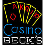 Becks Poker Casino Ace Series Neon Sign