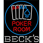 Becks Poker Room Neon Sign