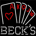 Becks Poker Series Neon Sign 24x24