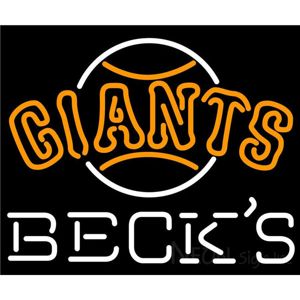 Becks San Francisco Giants MLB Neon Sign